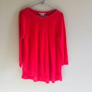 Philosophy Sheer Knit High Low Tunic Top